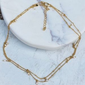 """Jewelry - Gold Satellite 30"""" inches Long Chain Necklace"""